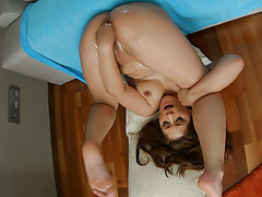 Dirty amateur chick Connie has flexible pussy