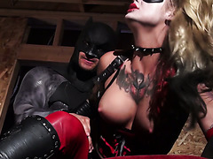 Bruce Wayne fucks the shit out of super hot villain bitch Harley Quinn