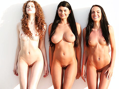 Euro cuties Sapphira, Lucy and Heidi show off their natural beauty outdoors