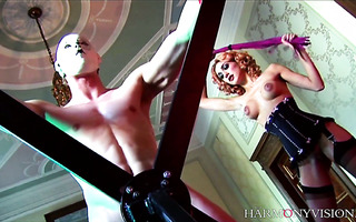 Horny mistresses Stella Delacroix and Mai Bailey fuck two slaves