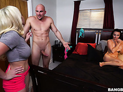 Cristi Ann caught her BF fucking her stepsis Lexi Luna and joined them