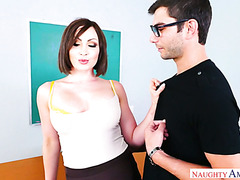 Horny teacher Yasmin Scott uses her student to relieve stress