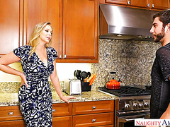 Experienced and caring MILF Julia Ann fucks son's unconfident friend