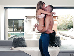 Kendall Kayden jumps into his arms cause she wanna get fucked