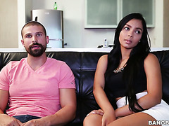 Chubby Valery Santos gets pounded on camera for the first time
