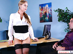 Nicole Aniston fucked her employee after finding her upskirt pics on his phone