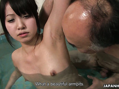Dirty Japanese orgy in public bath with hairy hoes Jun Sena and Asakura Kotomi