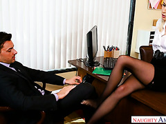 Cadence Lux fucks in the office to gets away with fraud