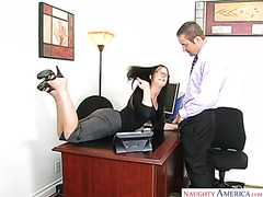 A horny lady boss finally fucked one of the hottest guys in office