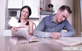 Ambika Gold gets brutally ass fucked by her friend during exam preparation