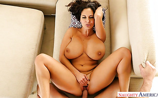 Curvaceous housewife Ava Addams is getting pounded by a large POV cock