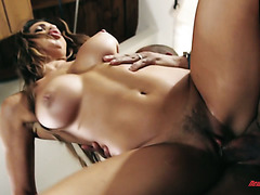 Classy Nikki Capone gets fucked in the end of a romantic dinner