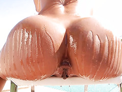 Teanna Trump gets her black pussy filled with white meat to the brim