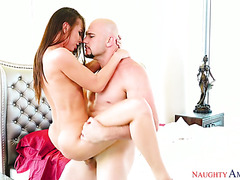 Dude cheats with Aidra Fox while looking for his cheating wife