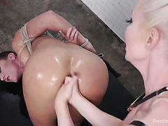 Ariel X gets her ass expanded by Lorelei Lee's fists and a strapon