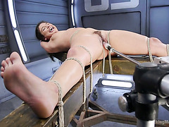 Tied up Abella Danger gets pounded by a fucking machine and a sybian