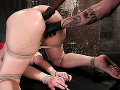 Ultimately huge booty of slave Proxy Paige is trained by master