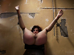 Phat ass slave girl Ingrid Mouth gets caned hard before hardcore banging with master
