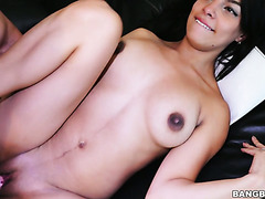 All natural 19 yo Colombian brunette Valeria Marin gets dicked on casting