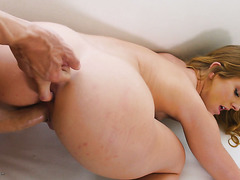 Marvelous blondie Daisy Stone bounces her beautiful pies of ass on big dong