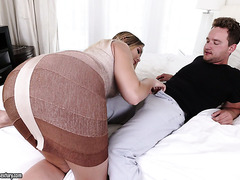 Chubby and ass blessed Blair Williams treats bf with cozy sex