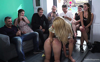 Rough anal fisting and DP for sexy slave Cindy Carson