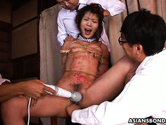 Brutal BDSM torment makes Asian chick Aoi Wajo scream in orgasm