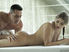 Gentle love making with cheeky Russian cutie Julia Red