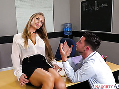 Hot teacher Nicole Aniston will write a reference for the D