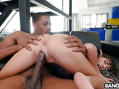 Skinny Native-American Janice Griffith enjoys BBC dicking