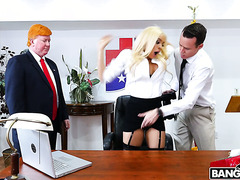 Mr Trump talks thick Luna Star into anal sex with his photographer