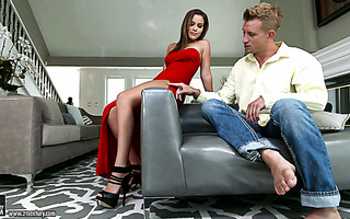 Exceptionally hot foot worship session with exotic diva Karter Foxx