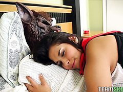 Hot red riding hood Penny Nichols gets porked by grey wolf