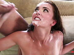 Husband and his friends DP the shit out of whore wife Bianca Breeze