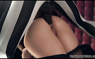 French PAWG Angell Summers is butt fucked by masked masters