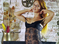Russian virgin Roberta Berti shows her hymen after striptease