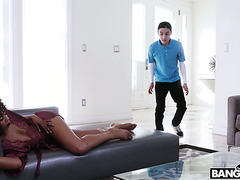 Black stepmother Misty Stone dominates white stepson