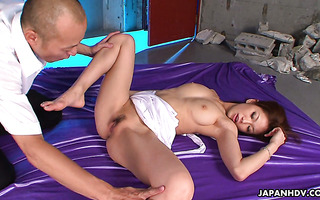 Dazzling Asian babe Runa Sezaki is brought to squirting