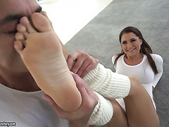 Foot fetishist makes love with Russian teen Ellen Betsy