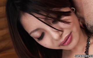 Skinny Asian sexpot Sakurako gets her extra hairy pussy fucked