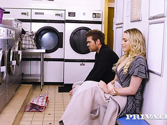 Babe Mia Malkova fucks perfect stranger at the laundry