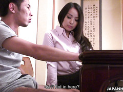 Asian tutor Ichika Aimi is tempted by nerdy student