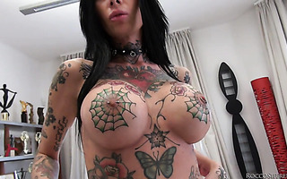 Tattoo artist Megan Inky enjoys gangbang and DAP on casting