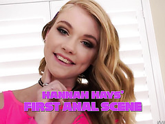 Neat teen Hannah Hays in her very first anal scene