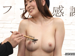 Japanese AV idol Akane Satozaki on erotic fan meeting