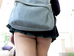 Eva Yi gets her Asian college pussy screwed after lessons