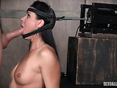 India Summer is face fucked in diabolical blow machine