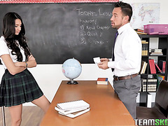 Eliza Ibarra has unforgettable sex with tough teacher