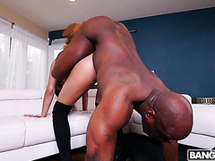 Aaliyah Hadid gets punished by black stepdad in all holes