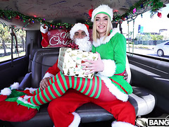 Squirting honey Maddie Winters is smashed by Santa in bangbus